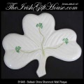 Irish Belleek China Shamrock Wall Plaque