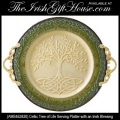 Irish Gifts - Celtic Tree of Life Serving Platter with an Irish Blessing