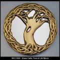 Irish Gifts - Brass Celtic Tree of Life Mirror