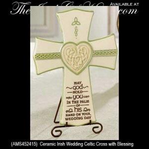 Irish Wedding Blessing Celtic Cross Irish Wedding Gifts