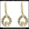 Solvar Irish Jewelry Gold Plated Claddagh Earrings