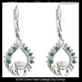 Solvar Irish Jewelry Silver Plated Claddagh Earrings