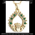 Solvar Irish Jewelry Gold Plated Claddagh Necklace Pendant