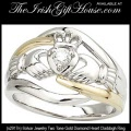 Solvar Ladies Gold Claddagh Ring