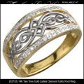 Solvar Irish Jewelry - Ladies Gold Diamond Celtic Knot Ring