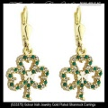 Solvar Irish Jewelry Gold Plated Shamrock Earrings