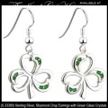 Solvar Irish Jewelry Sterling Silver Shamrock Earrings