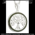 Solvar Irish Jewelry Sterling Silver Connemara Marble Celtic Tree of Life Necklace Pendant