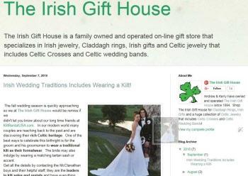 BlogSpot, The Irish Gift House